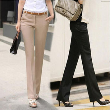 Slim Western-style Trousers Casual Pants Pencil S-XXL = 1901136388