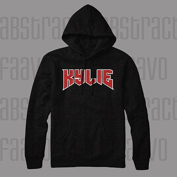 Kylie Jenner Script Pull Over Hoodie