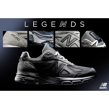 New Balance in USA M990V4 1982 Retro Running Shoes M990NB4