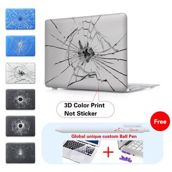 Broken Mirror Laptop Accessories Hard Cases Cover For Macbook Pro 13 Case Pro 13 15 Retina Laptop Skin 13.3 Inch Tablet