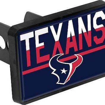 MDIGONC. Houston Texans Color Duo Tone Universal HITCH Bumper Trailer Auto Cover Football