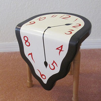 EcoVolveNow Melting Clock Sitting Stool - a tribute to Dali