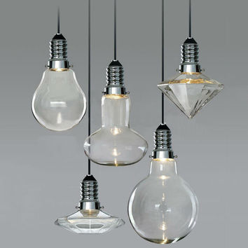 CANCRI Large LED Hanging Pendant Light Bulb Series. Casts beautiful light effect on your space!