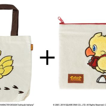 Chocobo - Fluffy Fluffy Tote Bag and Pouch - Final Fantasy (Pre-order)