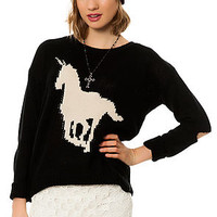 The Unicorn Sweater in Black