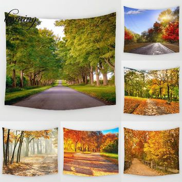 Pastoral Fabric Tapestry Wall Art Tree of Life Tapestry Throw Blanket Beach Towe Quick-Dry Green Tapestry Landscape Outdoor