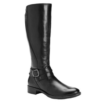Bussola Style Black Madrid Leather Riding Boots Black Size 7.5 B Womens