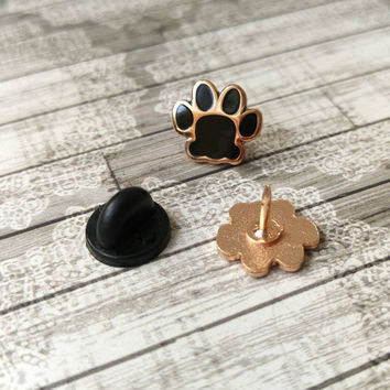 Cat lover gift, paw enamel pin, cat brooch, cat lapel pin, collar pins, gift for best friend, rose gold pin, valentines gift, gift for him