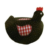 Black and Red Chicken Pot Top Pot Holder