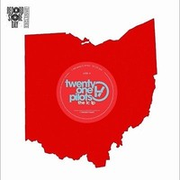 """Twenty One Pilots The LC LP RSD exclusive shaped red vinyl 7"""" shaped disc"""