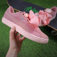 Best Online Sale Puma Suede Heart All Pink Women Shoes Sneaker