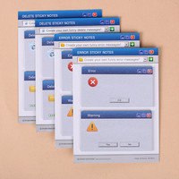 60 Pages Set Computer System Shape Memo Pad Paper Notes Diary Stationary Set Kawaii Stickers Office Supplies Creative Memo Pads