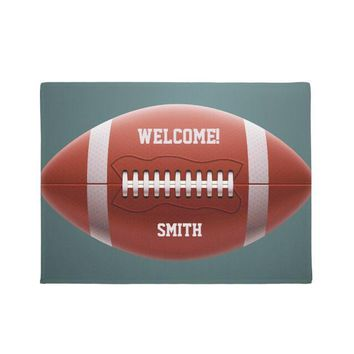 Autumn Fall welcome door mat doormat Novelty Personalized Football Welcome s Cool Funny Custom Family Name Sports Entrance Floor Mats Rug Carpet Indoor Decor AT_76_7