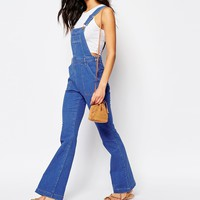 River Island 70s Flared Denim Dungaree