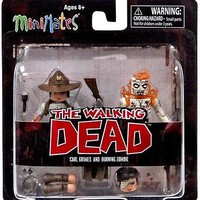 NEW The Walking Dead Minimates Series 6 Carl Grimes and Burning Zombie Mini Figu