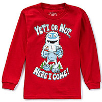 First Wave 2T-7 Yeti or Not Here I Come Long-Sleeve Christmas Tee | Dillards.com