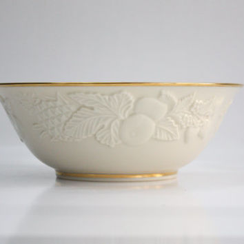 Lenox Round Serving Bowl / Fruits of Life / Vegetable Bowl