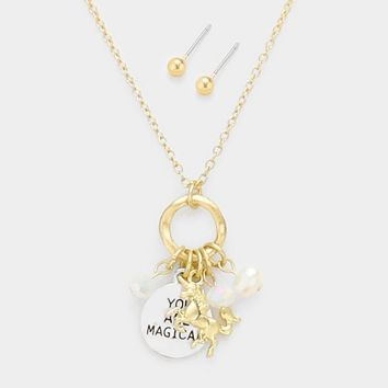 You are Magical Unicorn Charm Necklace