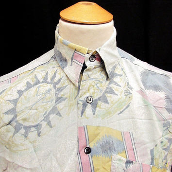 Retro 90's Colourful Summer Sun Indie Party Shirt M