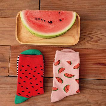 Cute Watermelons - Socks Funny Crazy Cool Novelty Cute Fun Funky Colorful