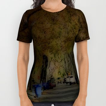 Street view All Over Print Shirt by Jessica Ivy