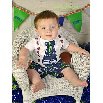 Boys Seattle Seahawks Outfit, Baby Boys Seahawks Coming Home Outfit, Boys Football Game Day Outfit