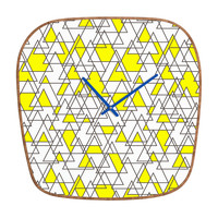 Holli Zollinger Geo Triangles Modern Clock