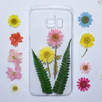 pressed flower iPhone 6s Case, Clear iPhone 6s Plus Case, iPhone 6 Case Clear, Pressed Flower iPhone 5 Case, iPhone 5c Flower Case,
