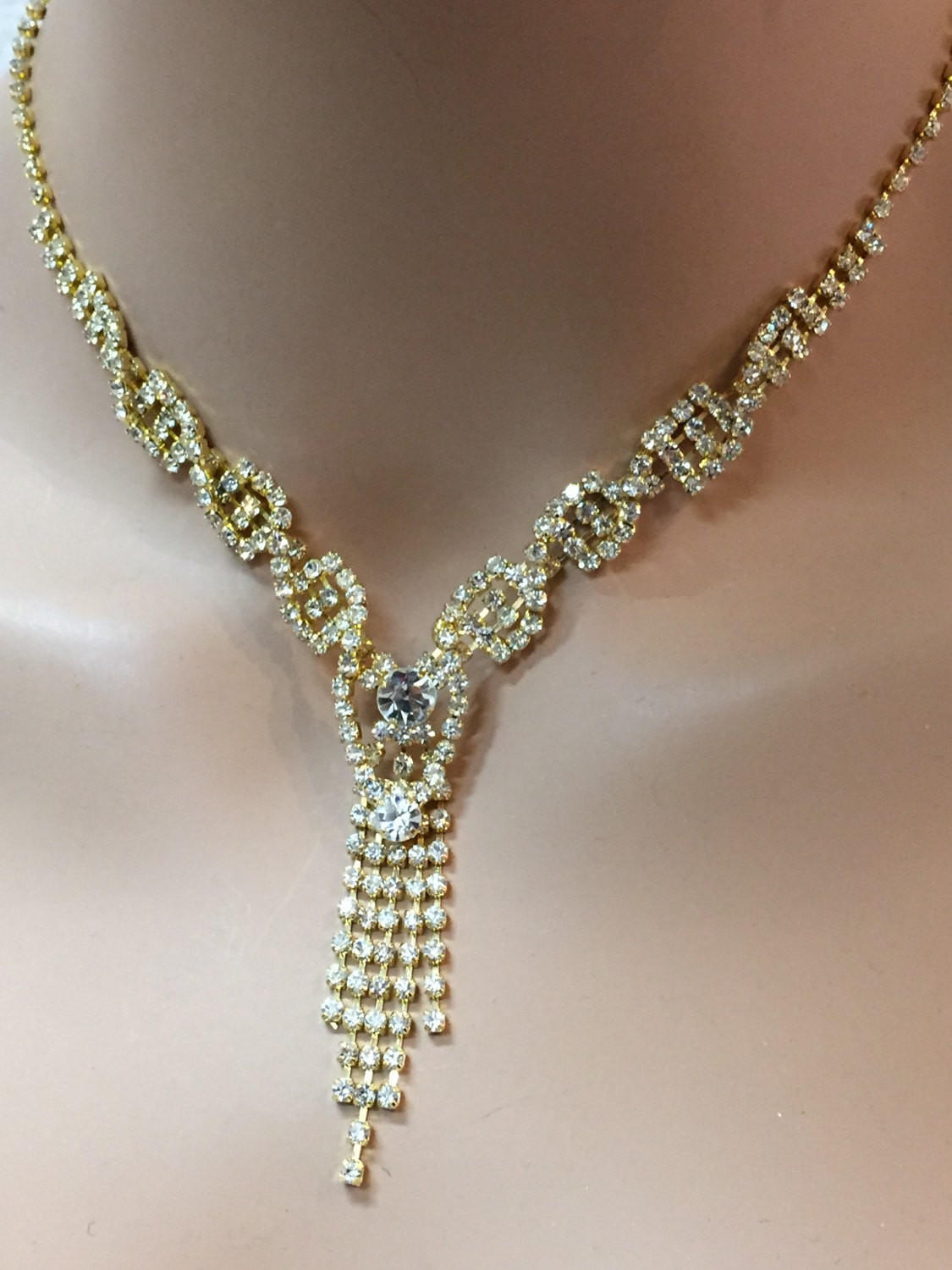 Wedding jewelry set, Bridal necklace from Glam Duchess