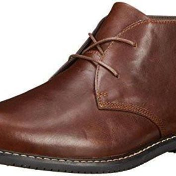 Timberland Men's EK Brook Park Chukka Boot,Red/Brown Smooth,9.5 M US