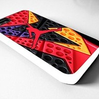 NIKE JORDAN logo Iphone 4/4s 5 5c 6 6plus case (iphone 5c white)