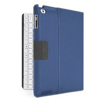 Belkin YourType Folio Case with Keyboard for Apple iPad with Retina Display (4th Generation) & iPad 3 and iPad 2 - White Keyboard (Blue Cover)