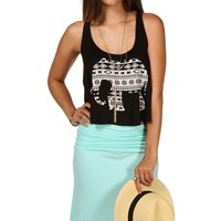 Sale-black Tribal Elephant Tank