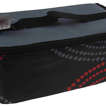 Blue Avocado Insulated Soft Reusable Lunch Box Chil Boxe Black Blue Red Dots NEW