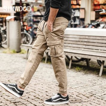 SIMWOOD 2018 Spring New Cargo Pants Men Military Jogger  Ankle-Length Harem Tactical Pants Male Trousers Plus Size XC017008