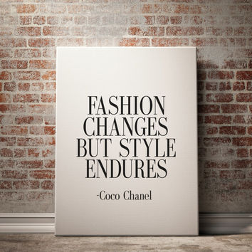 COCO CHANEL QUOTE Inspirational Print Coco Chanel Poster Coco Chanel Quote Typography Quote Home Decor Motivational Quote Coco Chanel