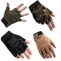 Tactical Half Finger Gloves Anti-Slip Outdoor Sports Riding Shockproof