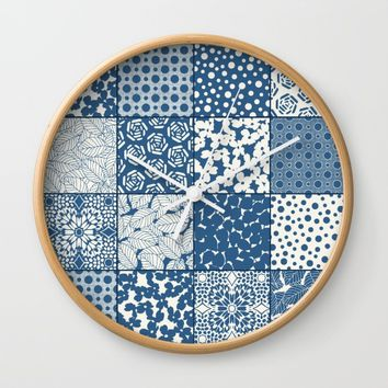 Tile Patchwork Wall Clock by Eileen Paulino