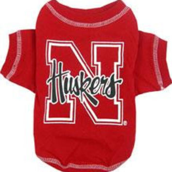 Nebraska Corn Huskers Pet Shirt MD