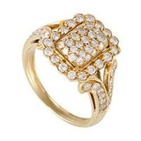 Cartier Vintage Yellow Gold Diamond Pave Ring