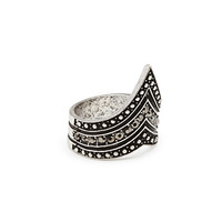 FOREVER 21 Rhinestoned Statement Ring Burn.S