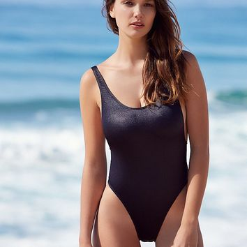 Free People Carbon High Cut One Piece