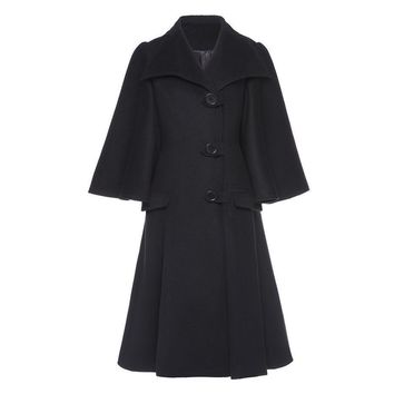 Gothic Coat Autumn Winter Black Bat Sleeved Loose Trench Retro Casual Overcoats Vintage Goth Coats