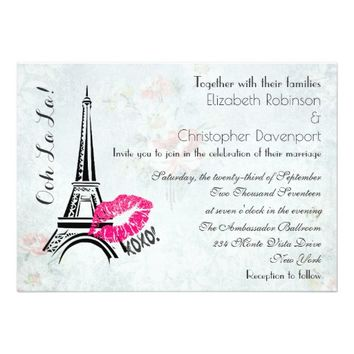 Ooh La La Paris Eiffel Tower Wedding Invite