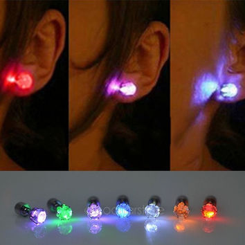 One Pair Light Up Led Earrings Studs Dance Party Accessories for Party/Xmas [7640009734]