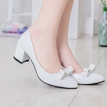 Womens Stylish Office Low Heels