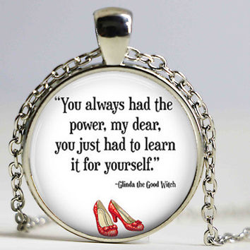 Wizard of Oz Plated Quote Necklace