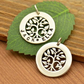 Sterling Silver Tree of Life Stamping Blank Pendant