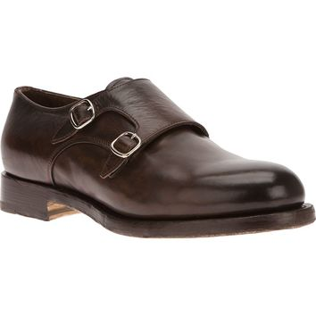 Santoni buckled loafer