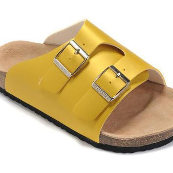 3dabd31b61c1a 2017 New STYLE Birkenstock Summer Fashion Leather Cork Flats Bea.  Birkenstock for Women and men This graceful cross strap sandal ...